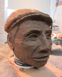 Clay sculpture for mask